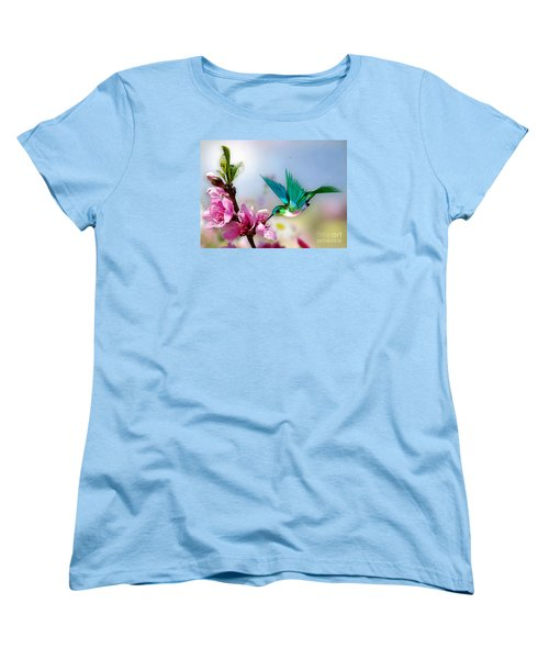 Pretty Hummingbird Women's T-Shirt (Standard Cut) by Morag Bates