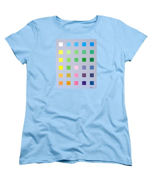 Primary To Tertiary Women's T-Shirt (Standard Cut) by Thomas Gronowski