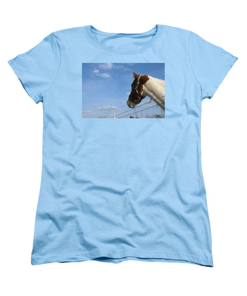 Women's T-Shirt (Standard Cut) featuring the photograph Profile Of A Horse by Charles Beeler