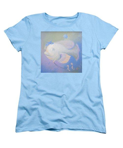 Promenade Women's T-Shirt (Standard Cut) by Marina Gnetetsky