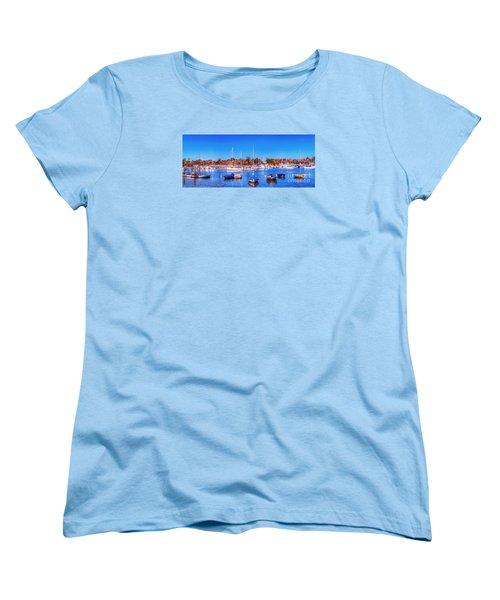 Women's T-Shirt (Standard Cut) featuring the photograph Promontory Point - Newport Beach by Jim Carrell