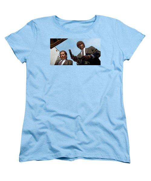 Women's T-Shirt (Standard Cut) featuring the painting Pulp Fiction Artwork 1 by Sheraz A