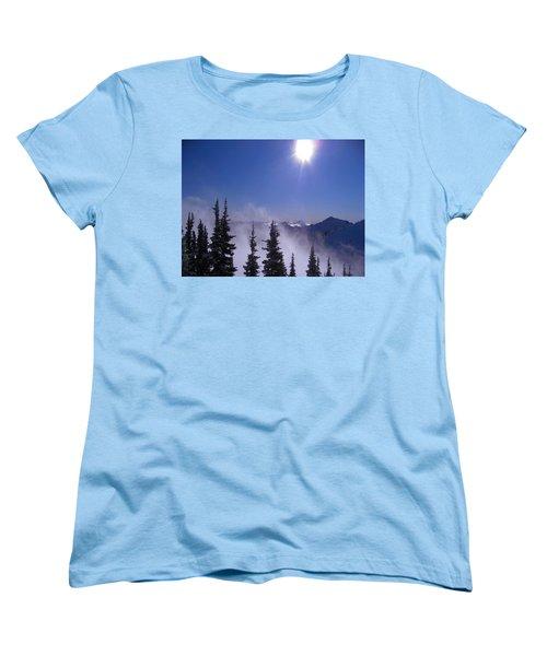 Purple Mountains Majesty Women's T-Shirt (Standard Cut) by Kym Backland