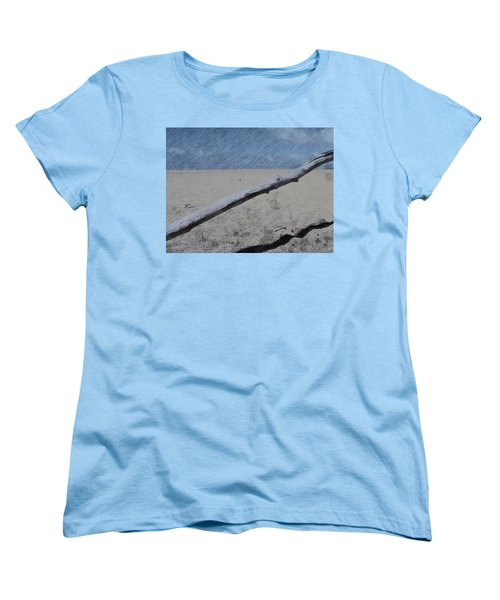 Quiet Beach Women's T-Shirt (Standard Cut) by Photographic Arts And Design Studio