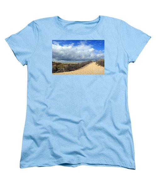 Women's T-Shirt (Standard Cut) featuring the photograph Race Point by Paula Guttilla