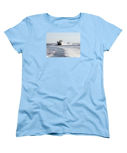 Racing To The Docks Women's T-Shirt (Standard Cut) by John Telfer