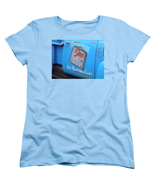 Radiator Shop Women's T-Shirt (Standard Cut) by Nick Kirby