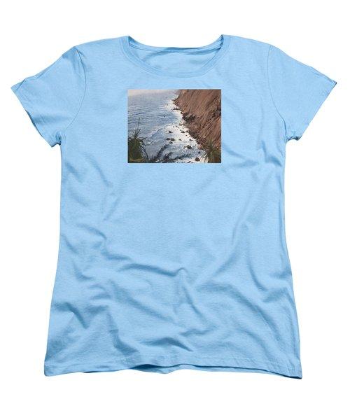 Ragged Point California Women's T-Shirt (Standard Cut) by Barbara Barber