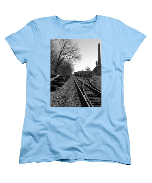 Women's T-Shirt (Standard Cut) featuring the photograph Railroad Siding by Greg Simmons