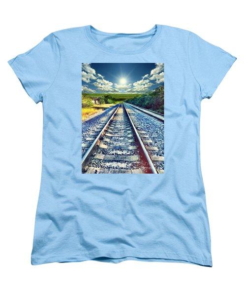 Railroad To Heaven Women's T-Shirt (Standard Cut) by Carlos Avila