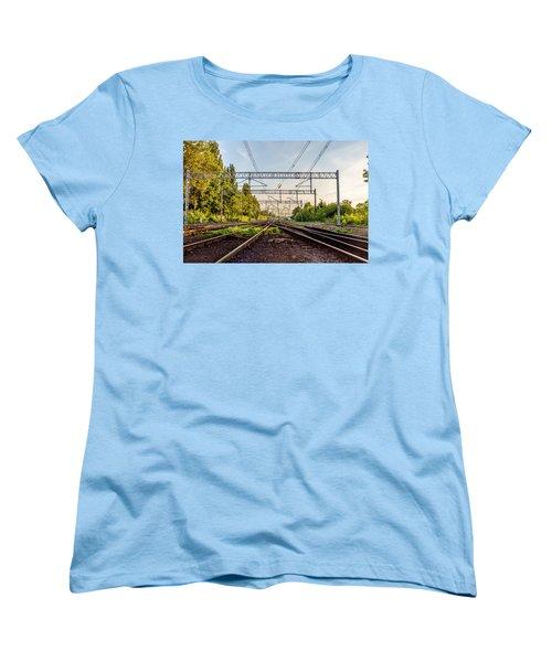 Railway To Nowhere Women's T-Shirt (Standard Cut) by Tgchan