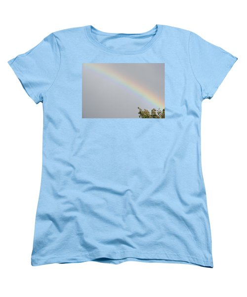 Rainbow After The Rain Women's T-Shirt (Standard Cut) by Barbara Griffin