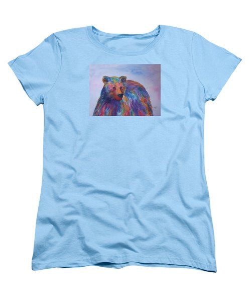 Rainbow Bear Women's T-Shirt (Standard Cut) by Ellen Levinson