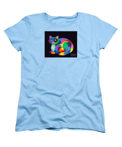 Rainbow Calico Women's T-Shirt (Standard Cut)