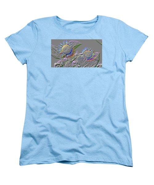 Rainbow Flower Women's T-Shirt (Standard Cut) by Tom Wurl