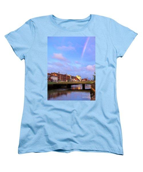 Rainbow Over Cork Women's T-Shirt (Standard Cut) by Daniel Heine