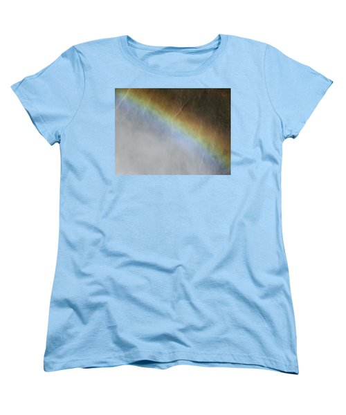 Women's T-Shirt (Standard Cut) featuring the photograph Rainbow Over The Falls by Laurel Powell