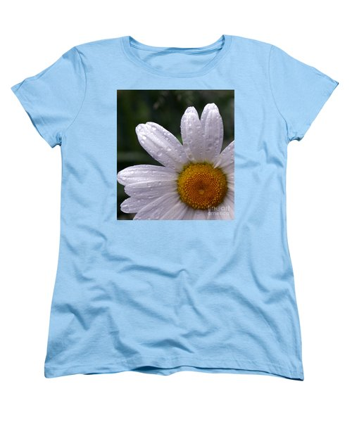 Rainy Day Daisy Women's T-Shirt (Standard Cut) by Kevin Fortier