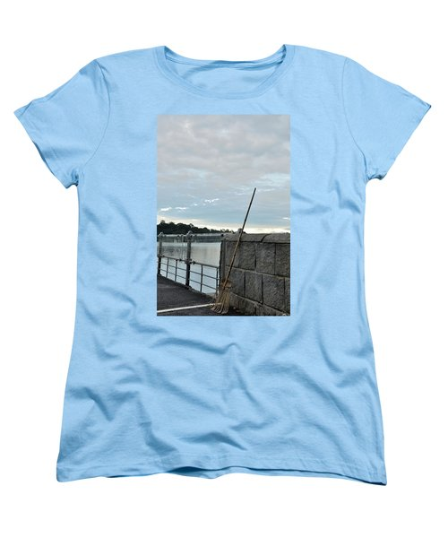 Women's T-Shirt (Standard Cut) featuring the photograph Rake Rests Itself After A Hard Days Work by Imran Ahmed