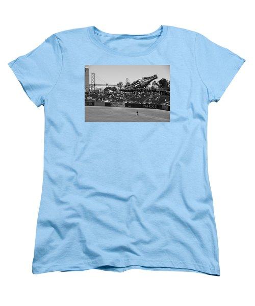 Raking The Lawn Women's T-Shirt (Standard Cut) by Eric Tressler