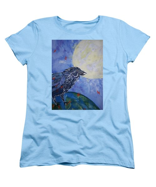 Raven Speak Women's T-Shirt (Standard Cut) by Ellen Levinson
