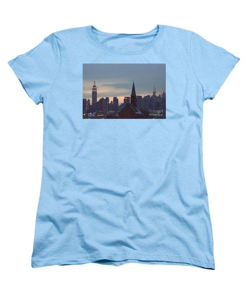 Women's T-Shirt (Standard Cut) featuring the photograph Red Church by Steven Macanka