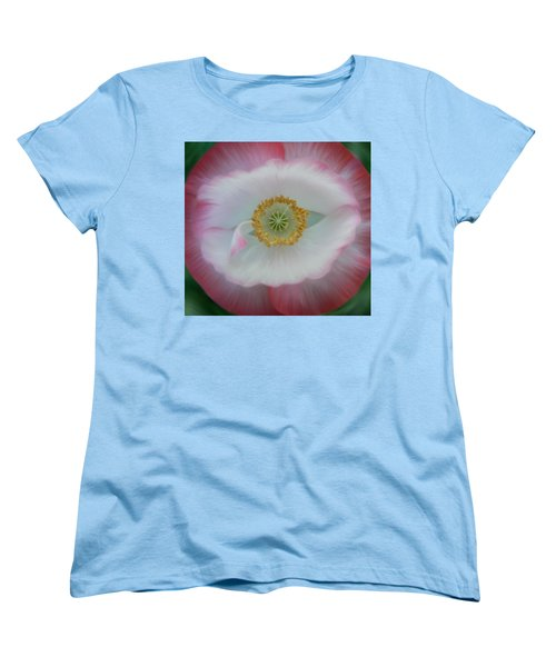 Women's T-Shirt (Standard Cut) featuring the photograph Red Eye Poppy by Barbara St Jean