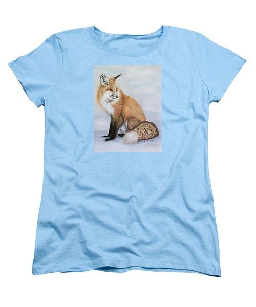 Red Fox Women's T-Shirt (Standard Cut) by Lena Auxier