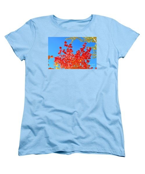 Women's T-Shirt (Standard Cut) featuring the photograph Red Leaves by David Lawson
