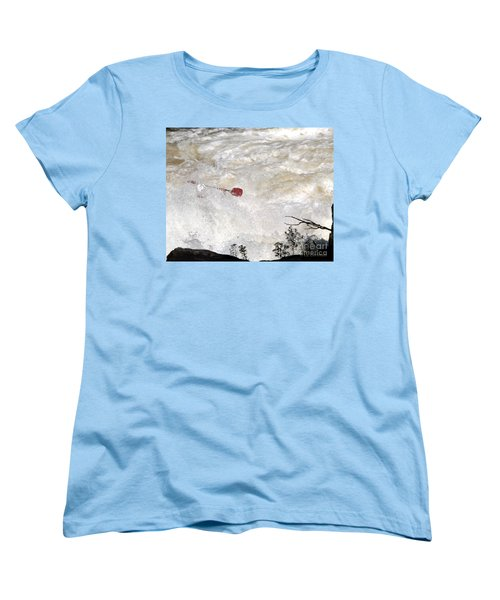 Women's T-Shirt (Standard Cut) featuring the photograph Red Paddle by Carol Lynn Coronios