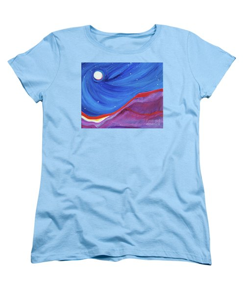 Women's T-Shirt (Standard Cut) featuring the painting Red Ridge By Jrr by First Star Art