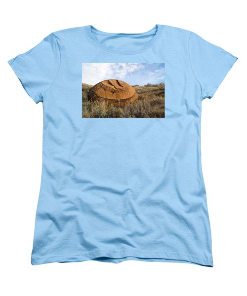 Red Rock Coulee I Women's T-Shirt (Standard Cut) by Leanna Lomanski