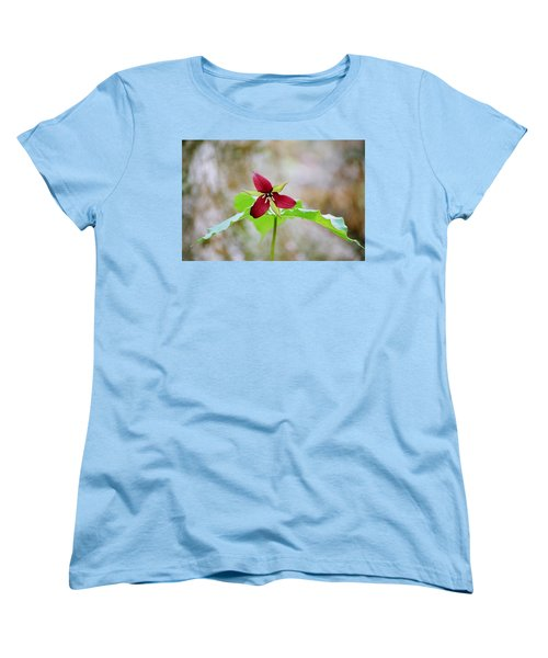 Red Trillium Women's T-Shirt (Standard Cut) by David Porteus