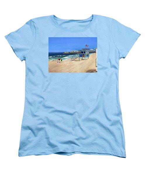 Redondo Beach Lifeguard  Women's T-Shirt (Standard Cut) by Jamie Frier