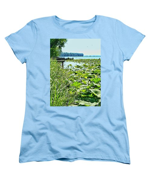 Reelfoot Lake Lilly Pads Women's T-Shirt (Standard Cut) by Bonnie Willis