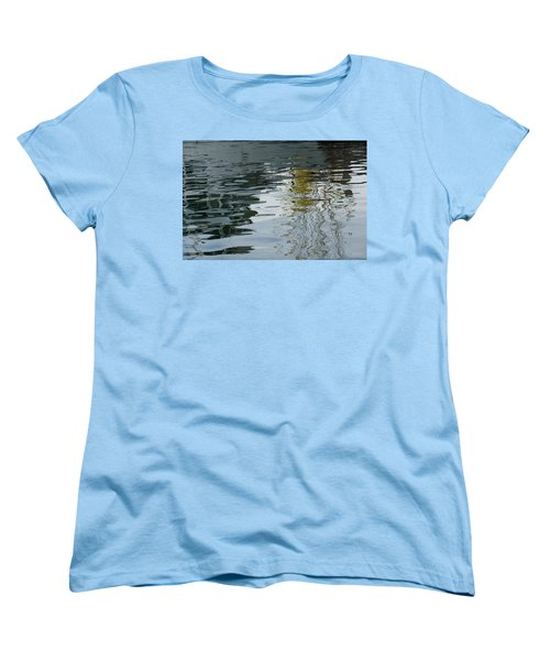Women's T-Shirt (Standard Cut) featuring the photograph Reflecting On Autumn Trees by Georgia Mizuleva