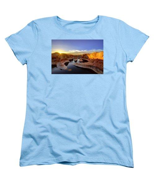 Reflection Canyon Sunrise Women's T-Shirt (Standard Cut) by Dustin  LeFevre