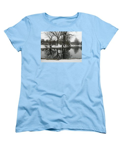 Reflection Pond Spring Grove Cemetery Women's T-Shirt (Standard Cut) by Kathy Barney