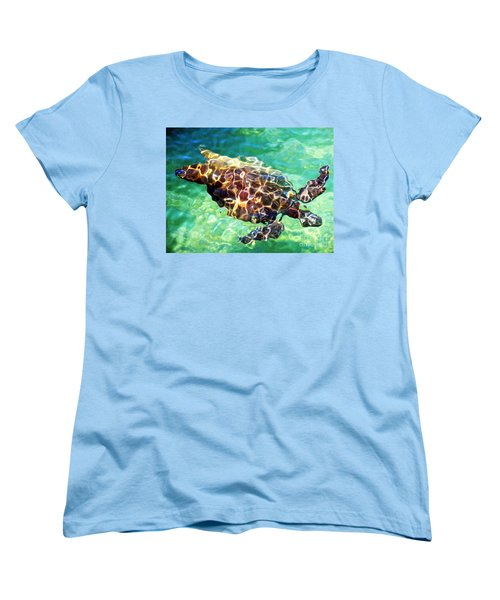 Women's T-Shirt (Standard Cut) featuring the photograph Refractions - Nature's Abstract by David Lawson
