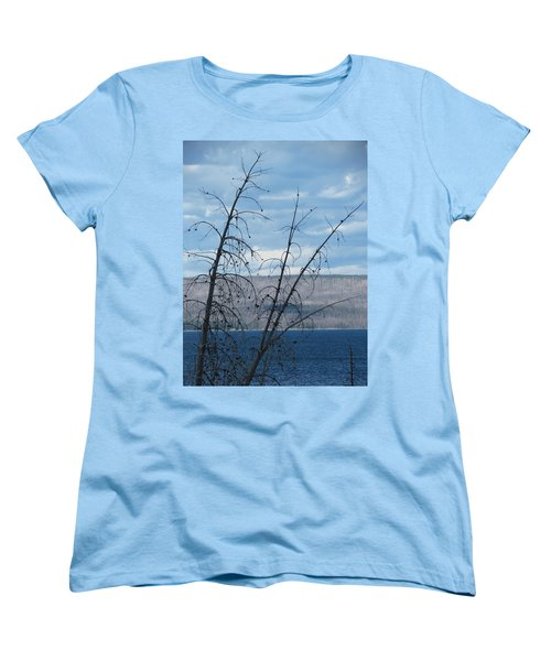 Women's T-Shirt (Standard Cut) featuring the photograph Remnants Of The Fire by Laurel Powell