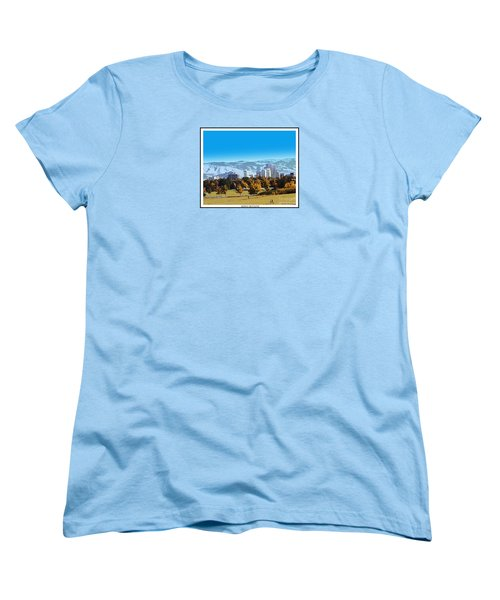 Reno Skyline From Rancho San Rafael Women's T-Shirt (Standard Cut) by Bobbee Rickard
