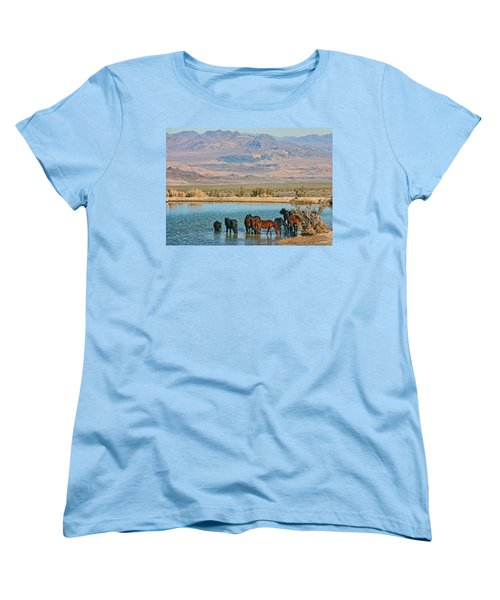 Rest Stop Women's T-Shirt (Standard Cut) by Tammy Espino