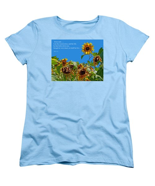 Resurrected Life Women's T-Shirt (Standard Cut) by Tikvah's Hope