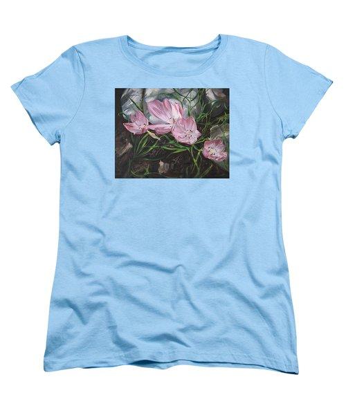 Resurrection Lilies Women's T-Shirt (Standard Cut) by Jane Autry