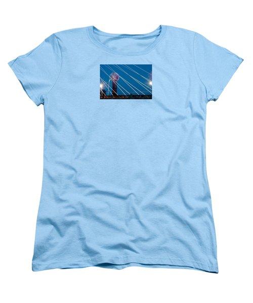 Reunion Tower Women's T-Shirt (Standard Cut) by Darryl Dalton