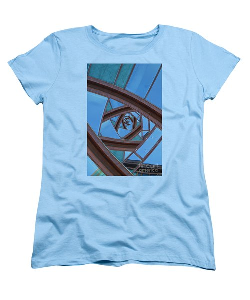 Women's T-Shirt (Standard Cut) featuring the photograph Revolving Blues. by Clare Bambers