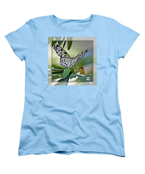 Rice Paper Butterfly 2b Women's T-Shirt (Standard Cut) by Walter Herrit