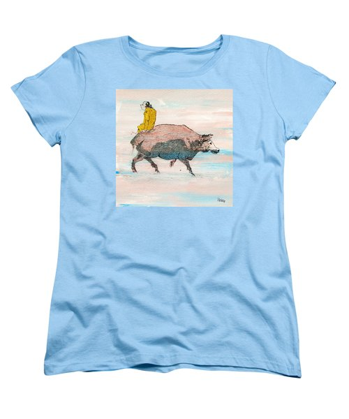 Riding A Blind Ox In Search Of The Tiger Women's T-Shirt (Standard Cut) by Roberto Prusso