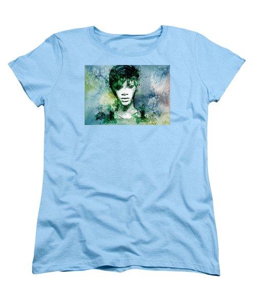 Rihanna 4 Women's T-Shirt (Standard Cut) by Bekim Art
