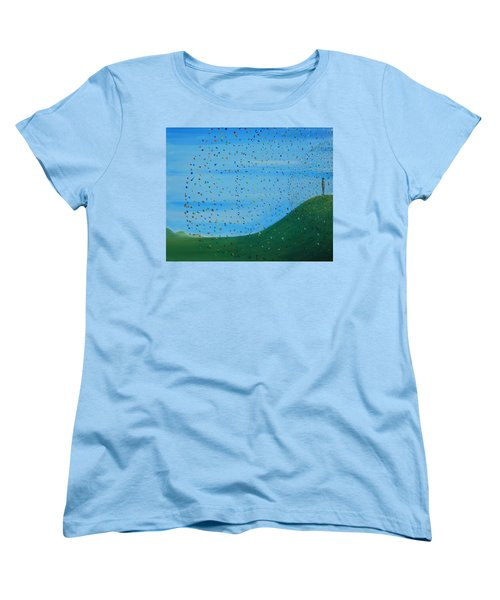 Ripples Of Life 2 Women's T-Shirt (Standard Cut) by Tim Mullaney